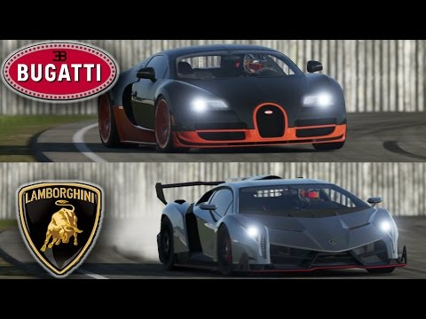 ultra hd 4k drag race bugatti veyron vitesse vs lambo. Black Bedroom Furniture Sets. Home Design Ideas