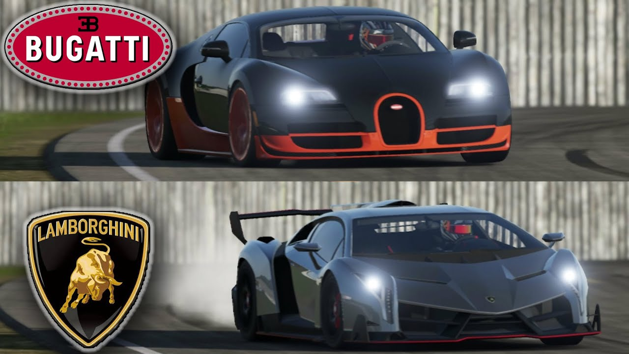 bugatti veyron vs lamborghini veneno top gear track you might be surprised youtube
