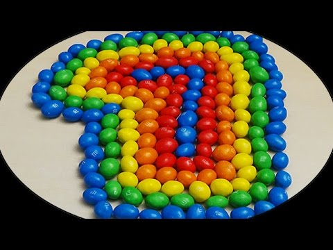 Learn To Count make Colours Numbers 1-10 with M&M's Play Doh