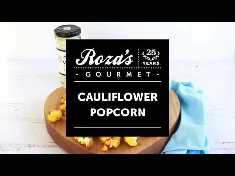 Cauliflower Popcorn with Roza's Gourmet Vegan Mayonnaise