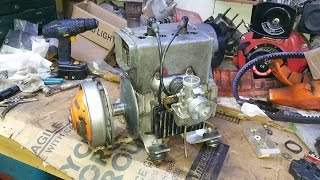 ski doo citation 300 snowmobile engine repair re install and first start