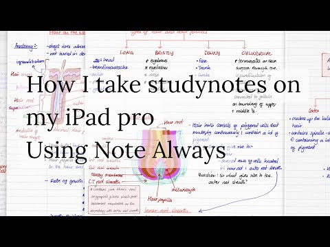 How I take study notes in Note Always on my iPad pro| Paperless Student