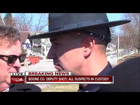 Indiana State Police update on Boone County deputy who was shot while serving a warrant