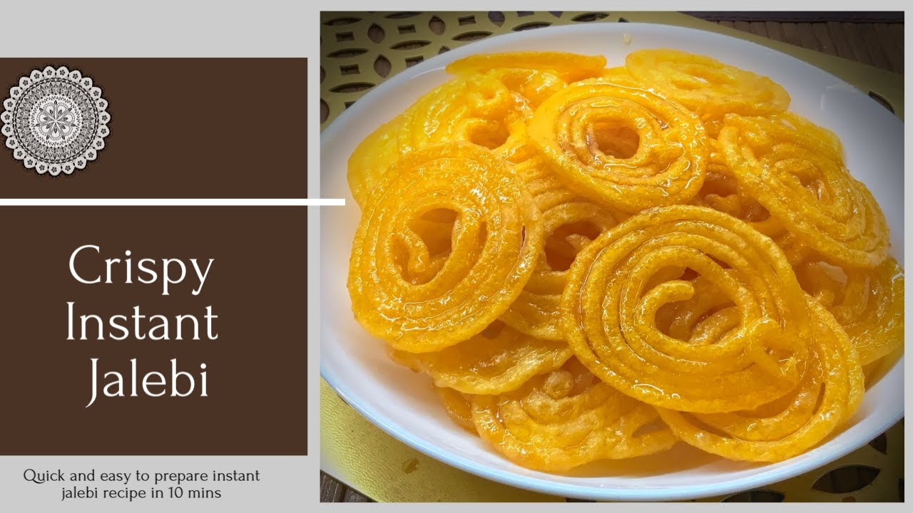 Instant Jalebi Recipe Traditional Jalebi Made Instantly Instant Jalebi In 10 Mins Dish N Desserts Youtube