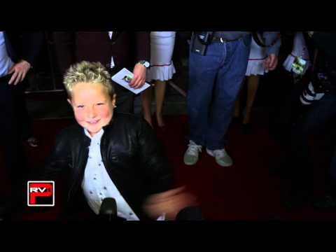 Jackson NIcoll does the cherry dance at Bad GrandPa Premiere