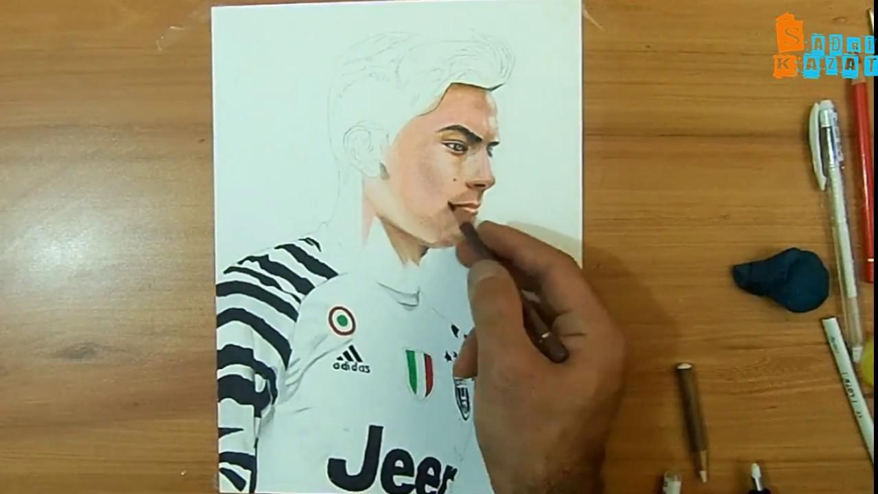 Drawing Paulo Dybala Juventus Sadri Kazat