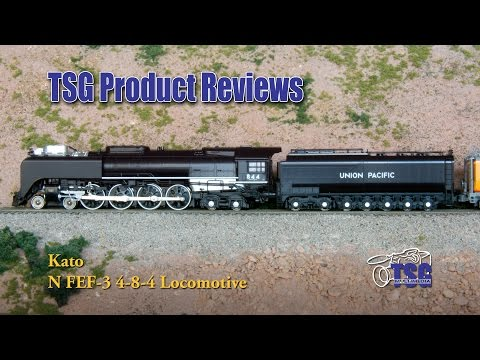 N Scale DCC FEF-3 4-8-4 UP 844 Kato Product Review