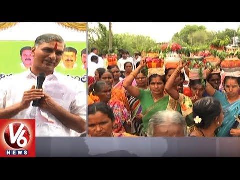 Minister Harish Rao Fires On AP CM Chandrababu Naidu Over Kaleshwaram Project | V6 News