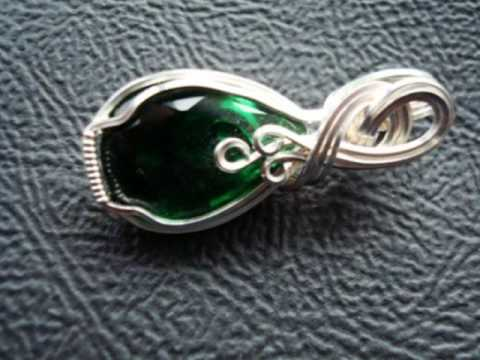 Wire wrapped pendants on etsy youtube aloadofball Gallery