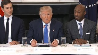 Trump talks immigration and economy with CEOs
