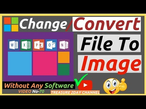 CONVERT MS WORD AND EXCEL FILE INTO IMAGE OR PHOTO? || CONVERT MS-EXCEL & WORD FILE INTO PICTURE?