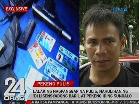 24 Oras: Exclusive: Lalaking nagpanggap na pulis, nahulihan ng 'di lisensyadong baril