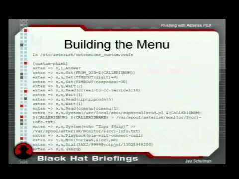2006 BlackHat Vegas V16 Schulman Phishing with Asterisk