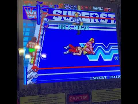 WWE classic Arcade Action on Arcade1up! from JLS Gaming