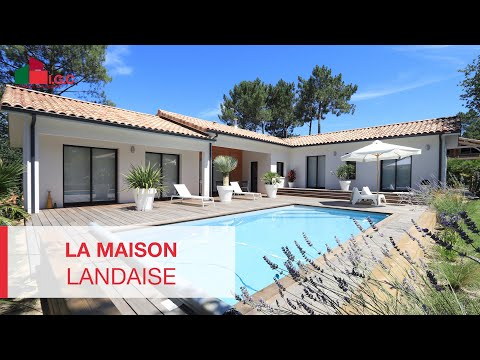 Sur la c te landaise une belle maison contemporaine youtube - Maison contemporaine prefabriquee ...