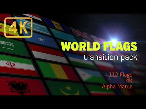 Flat World Flags Transition Pack