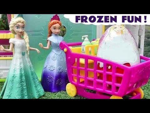 Kinder Surprise Eggs MLP My Little Pony Barbie Berbie Perinces opened by Frozen Elsa and Anna TT4U