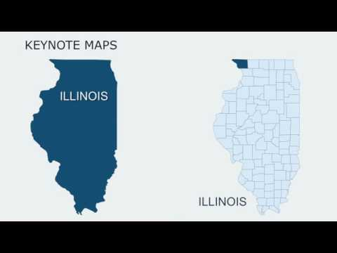 Keynote maps of Illinois with Counties