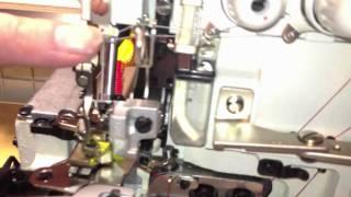 HOW TO: Siruba 747k BK 4 Thread Overlock Industrial Sewing Machine