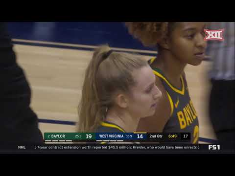 Baylor At West Virginia Women's Basketball Highlights
