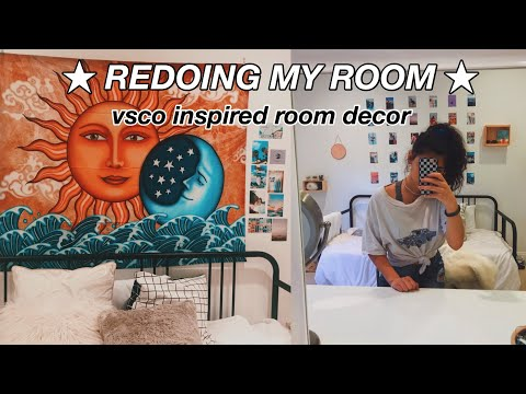 redoing my room for summer!!! vsco inspired room decor - YouTube