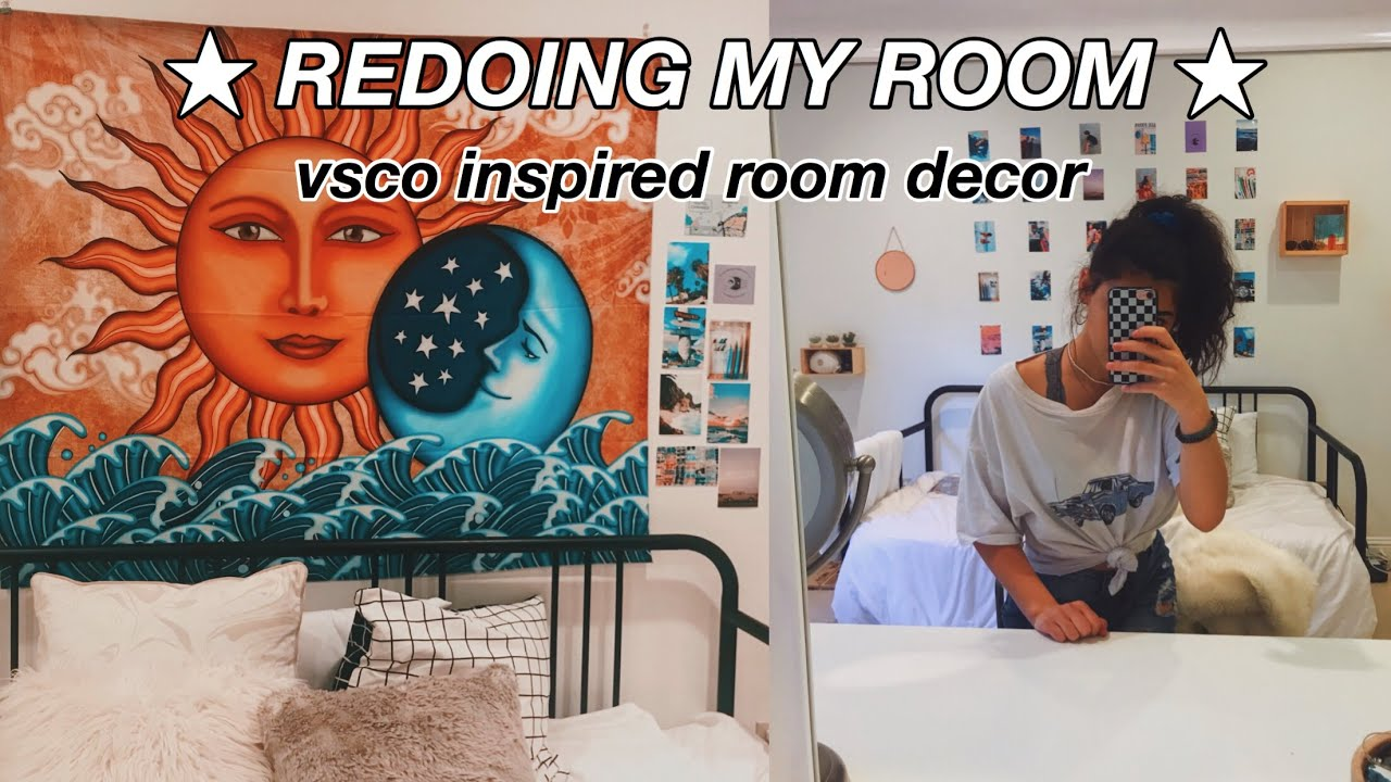 Redoing My Room For Summer Vsco Inspired Room Decor Youtube