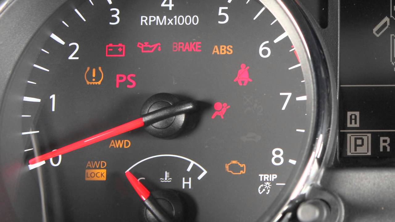 2013 NISSAN Rogue - Warning and Indicator Lights - YouTube