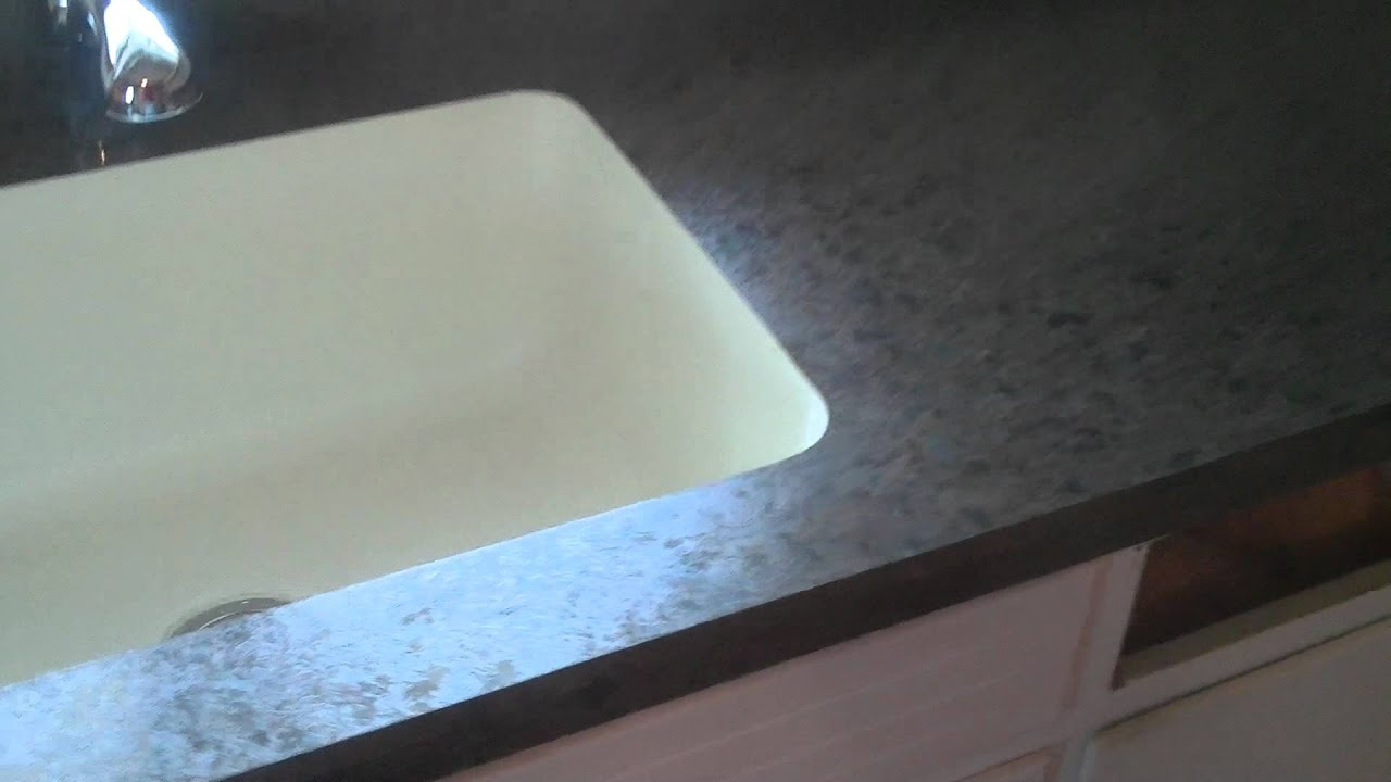 Laminate Countertop With Bevel Edge And A Undermount Karran Sink   YouTube