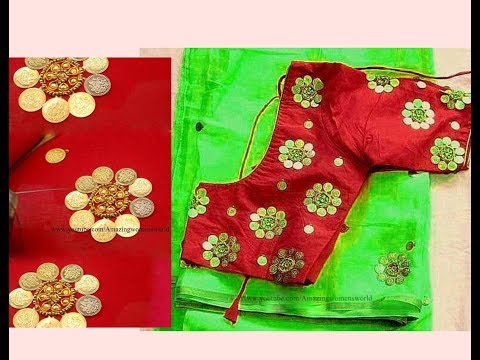 Most Beautiful KASU/COIN Design with Normal Stitching Needle-Same Like AARI/ Maggam Work Blouse