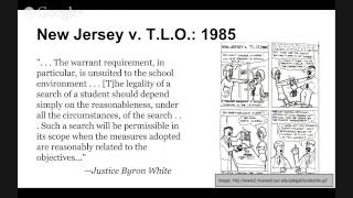 The Supreme Court Precedent Cases: New Jersey v. T.L.O. 1985