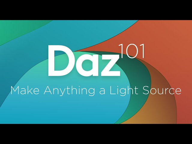 Daz 3D Tutorial: Make anything a light source