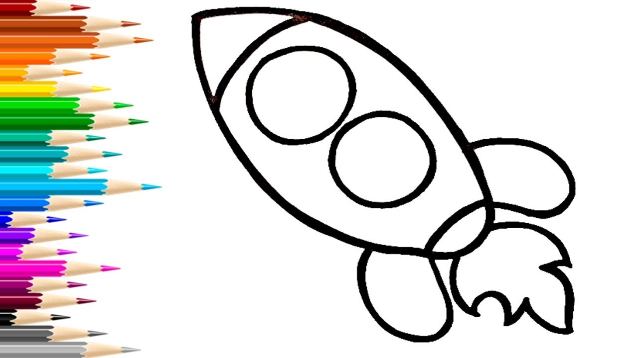 РАКЕТА / мультик раскраска для детей / Нарисуй Ка
