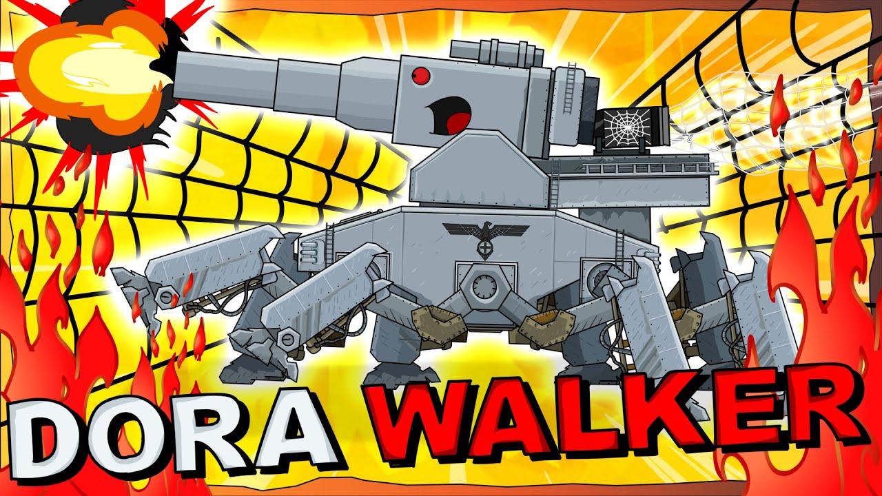 """Dora the Iron Walker"" Cartoons about tanks"