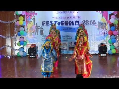 Commerce Festival Performance|| Punjabi Folk Dance || Girls Performance || Trending Bhangra 2018