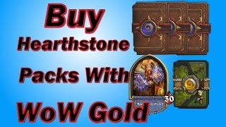 Buy Hearthstone packs with WoW GOLD (using TSM addon, not against ToS)