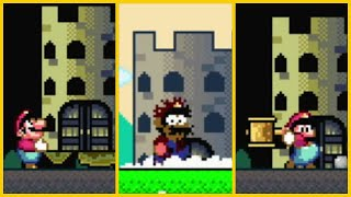 All Castle Demolition Animations | Super Mario World