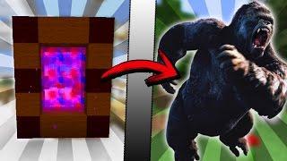 Minecraft COMO hacer un PORTAL a la DIMENSION de KING KONG | COMO HACER UN PORTAL DE KONG