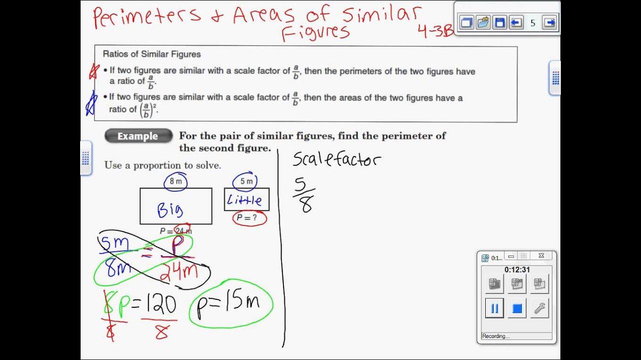 4 3 B Perimeter Amp Area Of Similar Figures 7th Grade Math