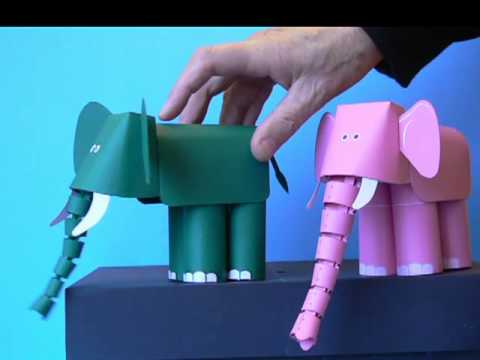 Paper Elephant With Flexible Trunk