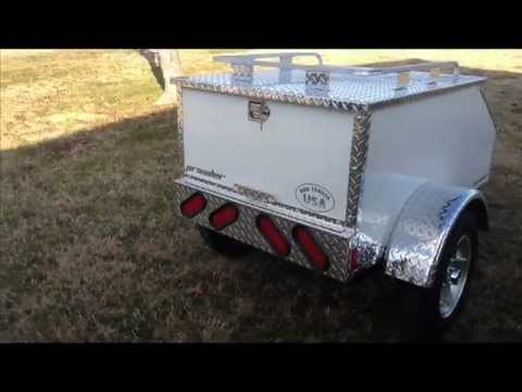 Prowler cargo trailer for cars trikes made in the USA