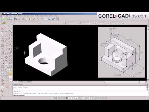 CorelCAD – demo creating object from a picture reference
