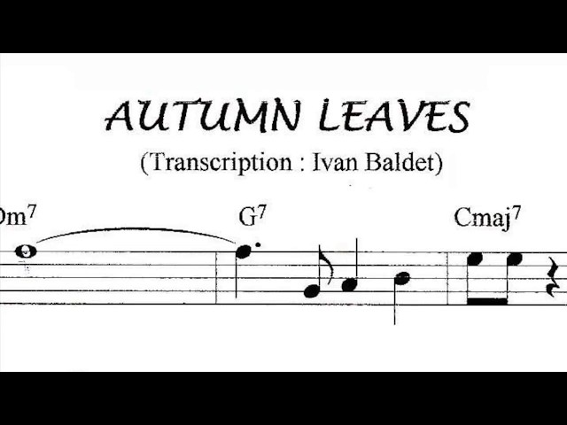 Scott Hamilton plays : Autumn Leaves (Solo Transcription)