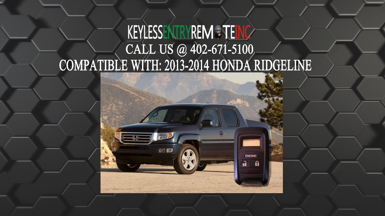 How To Replace Honda Ridgeline Key Fob Battery 2013 2014 - YouTube