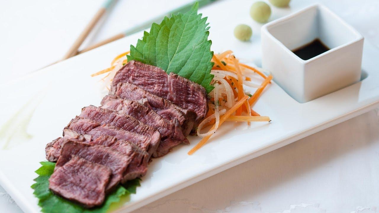 How to Make Beef Sashimi - Beef Tataki Recipe