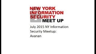 July NY Information Security Meetup: Avanan