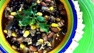 Quick And Easy Super Bowl Turkey Chili Recipe   W/ Vegan Option   August Cooking   How To Cook