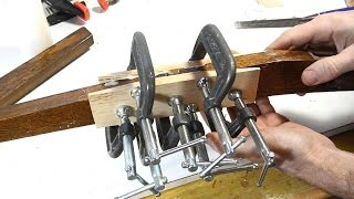 Scarf joint splice chair repair