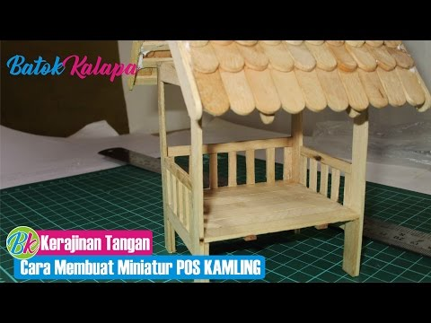 handicrafts using ice cream sticks How to Make a miniature post security or guard post