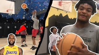 LEBRON JAMES PLAYS PICKUP VS SUBSCRIBERS *SOMEONE GETS EXPOSED*