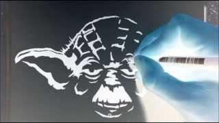 Yoda Negative Drawing (Trick Art)